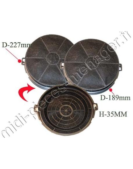 2 filtres a charbon sidex