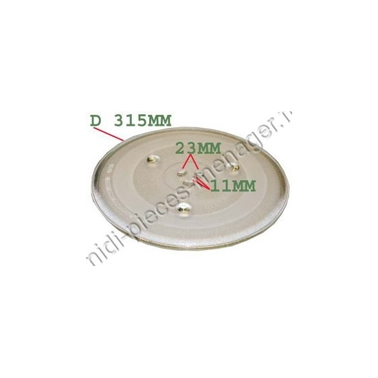 plateau de micro ondes brandt fagor 72X3692