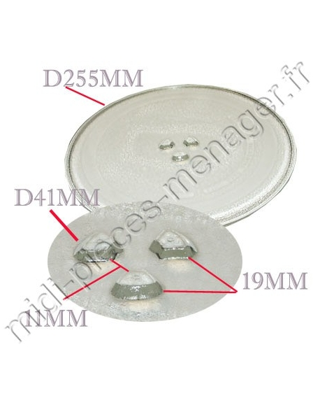 plateau micro ondes daewoo diametre 255mm 3517203600