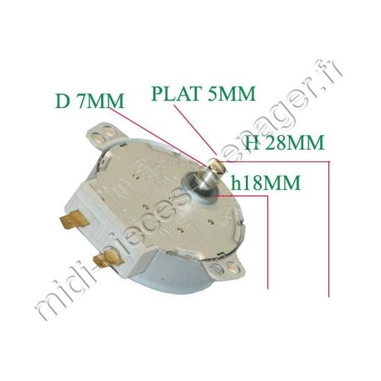 moteur plateau tournant whirlpool 481236158449