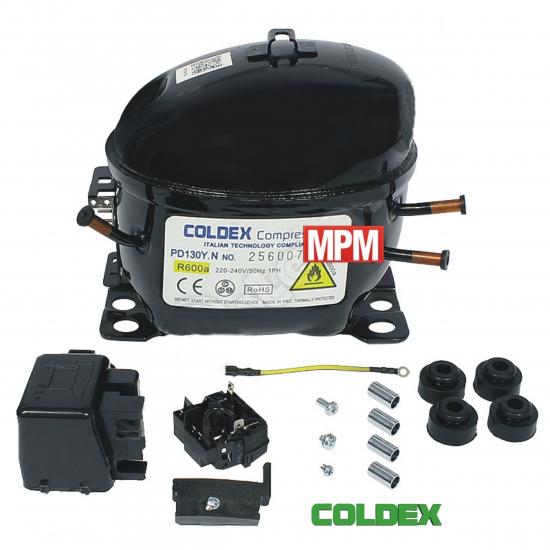 PD130Y.N - compresseur refrigerateur COLDEX R600A - 1/4+
