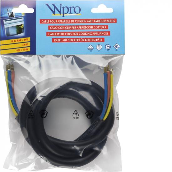 CAB360 - Câble electrique d'alimentation HO7 RNF 3G6 sans prise WPRO 481281729071