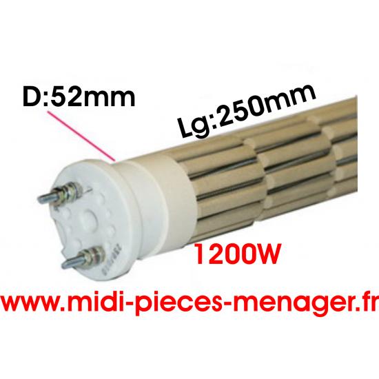 resistance steatite 1200W dia.52mm Lg:250 monophasé 00440229