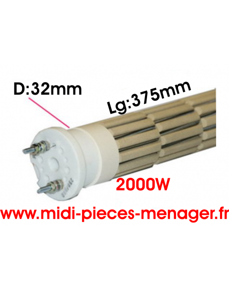 steatite 2000W dia.32mm Lg:375mm