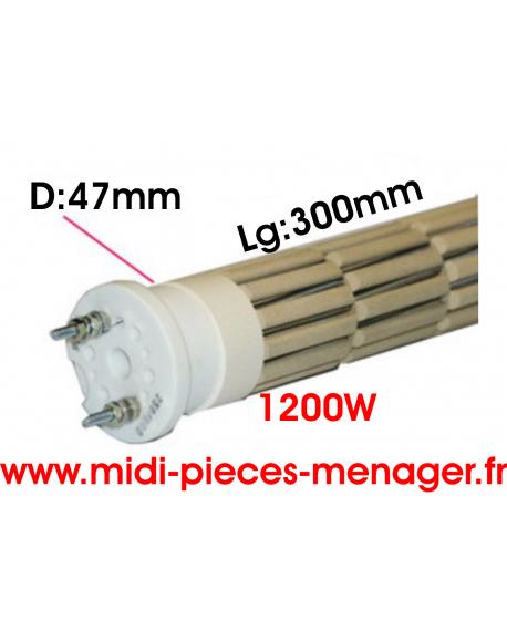 steatite 1200W dia.47mm Lg:300mm