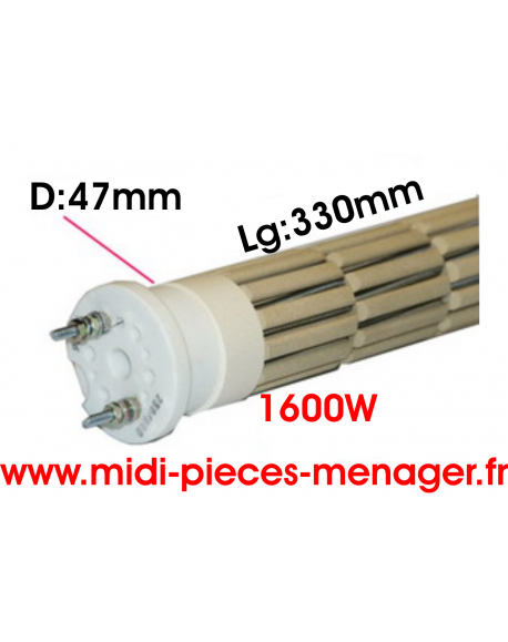steatite 1600W dia.47mm Lg:330mm