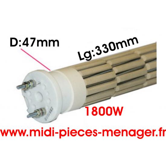resistance steatite 1800W dia.47mm Lg:330mm 00440219