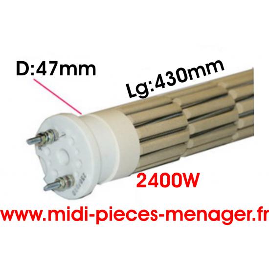 resistance steatite 2400W dia.47mm Lg:430mm 00440224