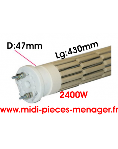 steatite 2400W dia.47mm Lg:430mm