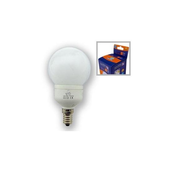 Lampe eco mini globe E14 7W 8000h froide 35w restitué