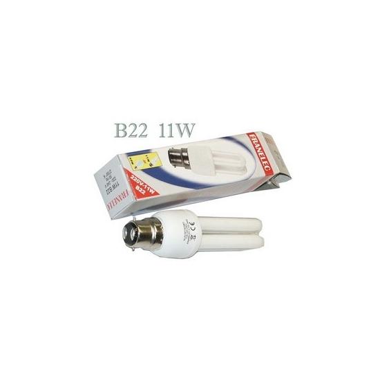 lampe Fluocompacte B22 11W 2U 2700°K