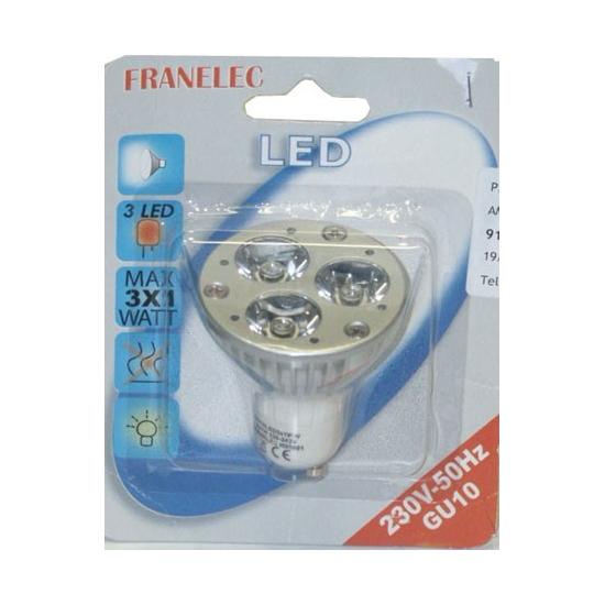 ampoule led GU10 3x1 W