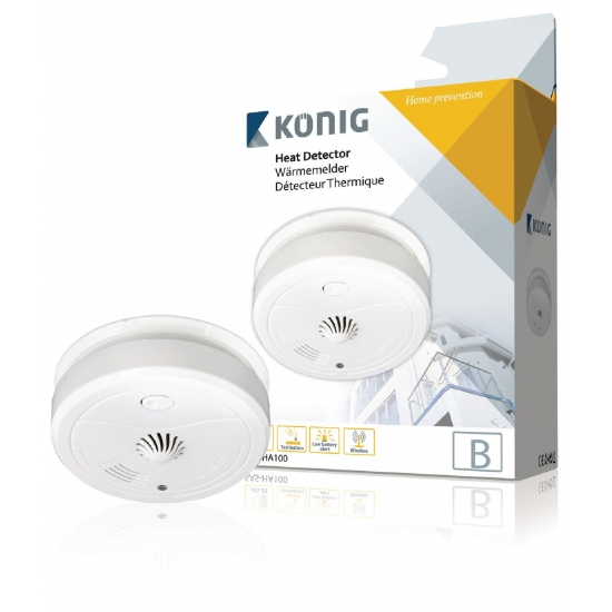 detecteur thermique pour cuisine KONIG SAS-HA100