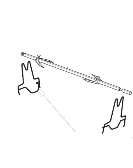 support de tournebroche pour mini four delonghi serie eo3800