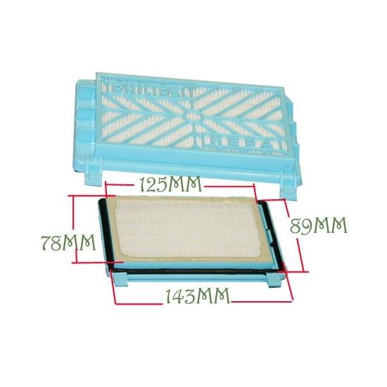 filtre hepa aspirateur philips 432200039090