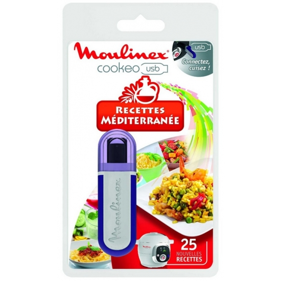 cle USB 25 recettes mediterranee cuiseur cookeo moulinex XA600011