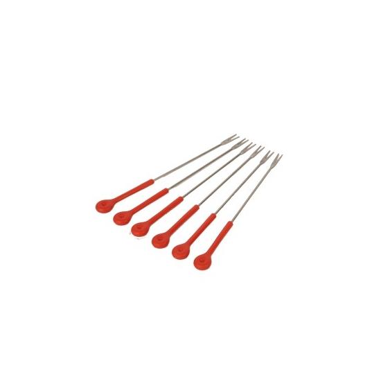fourchettes a fondue rouges x6 accessimo moulinex TS-01038470
