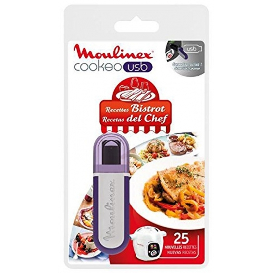 cle USB 25 recettes Bistrot cuiseur cookeo moulinex XA600411