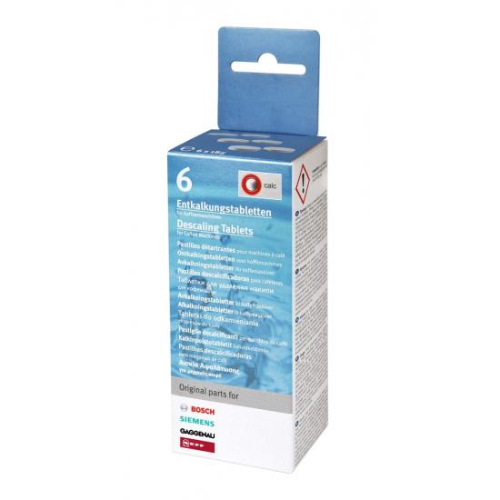 boite de 6 pastilles detartrantes pour cafetieres et bouilloires bosch siemens 00311556