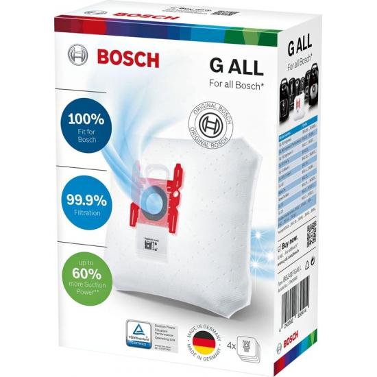 4 sacs type G.ALL avec fermeture aspirateur bosch siemens 00468383