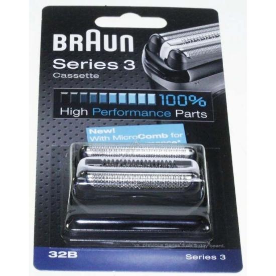 tete de rasoir cassette noir 32B rasoir serie 3 braun 81483728