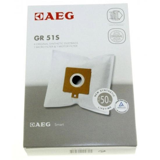 kit 4 sacs + 1 filtre aspirateur GR51 AEG ELECTROLUX 9001667402