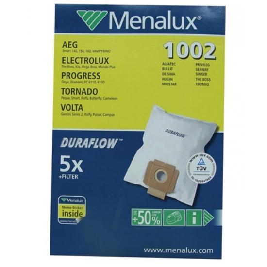 1002 5 Sacs + 1 Micro Filtre Menalux   Le Site de la Pièce