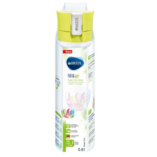 filtre bouteille fill et go vital citron brita 1016335