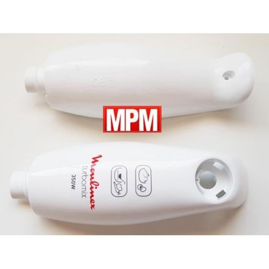 MS-5A21831 - boitier avant + arriere blanc mixeur DD107 turbomix plus moulinex