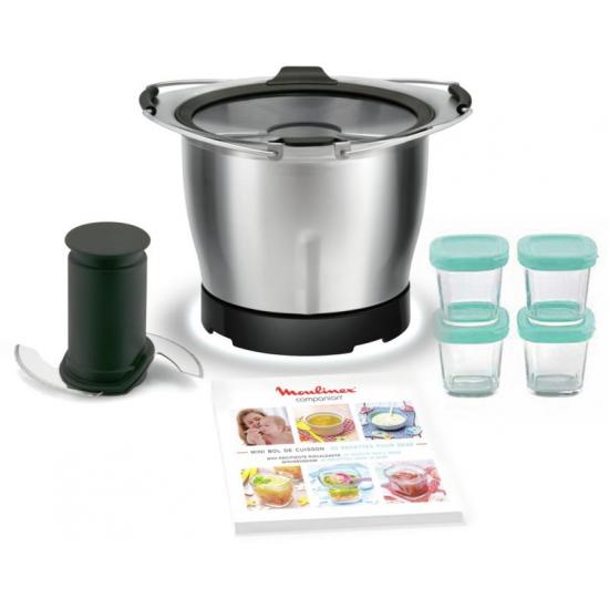 XF387E10 - Mini cuve + 4 pots bébé + livret recettes pour companion