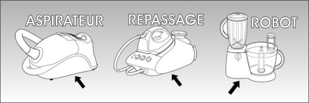 etiquette signaletique micro onde aspirateur fer a repasser