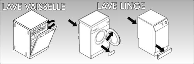etiquette signaletique lave linge lave vaisselle seche linge