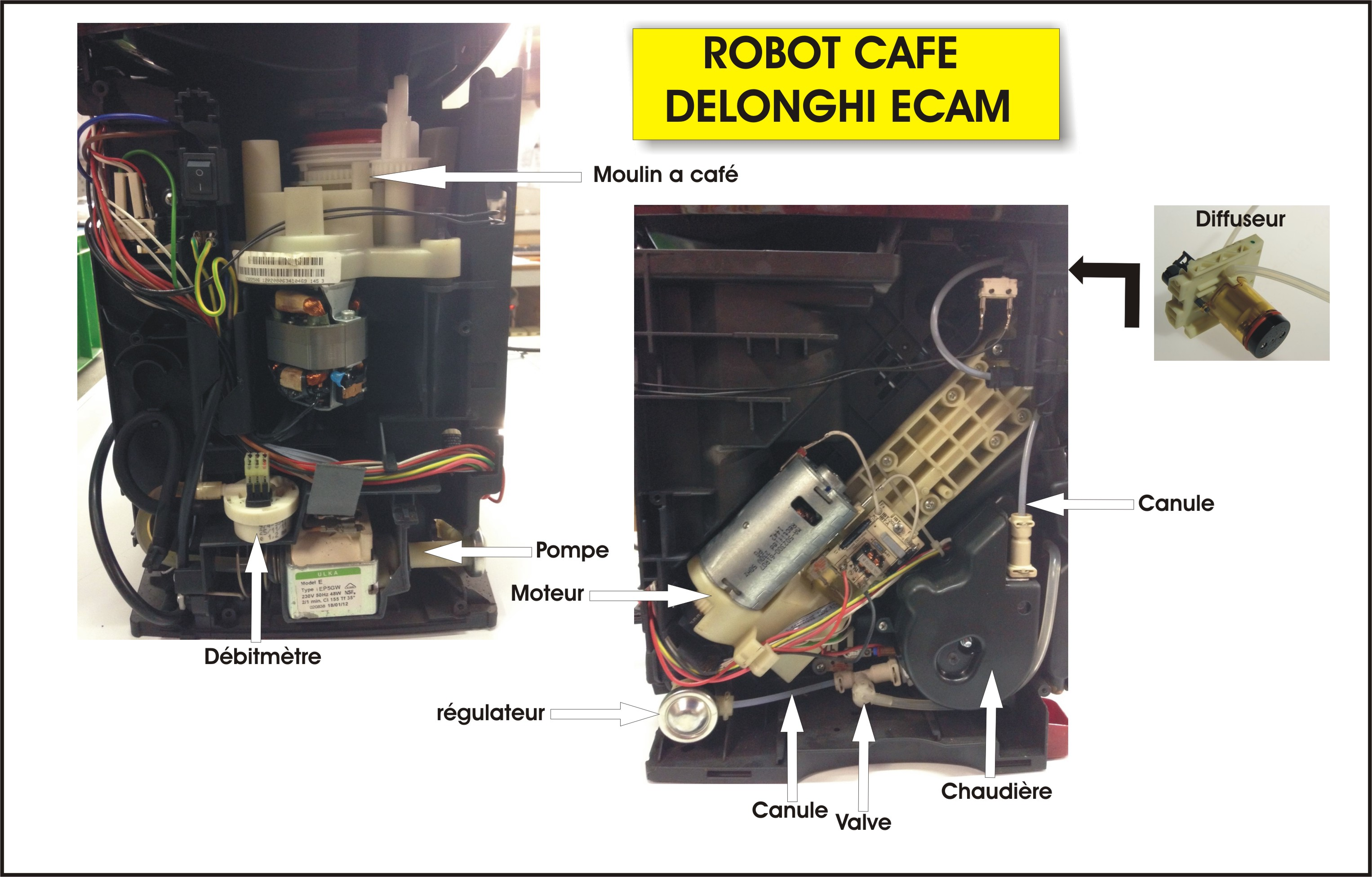 groupe infuseur robot cafe delonghi 7313217301 ebay. Black Bedroom Furniture Sets. Home Design Ideas